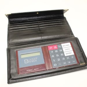 Vintage Buxton Banker Calculator Leather Wallet